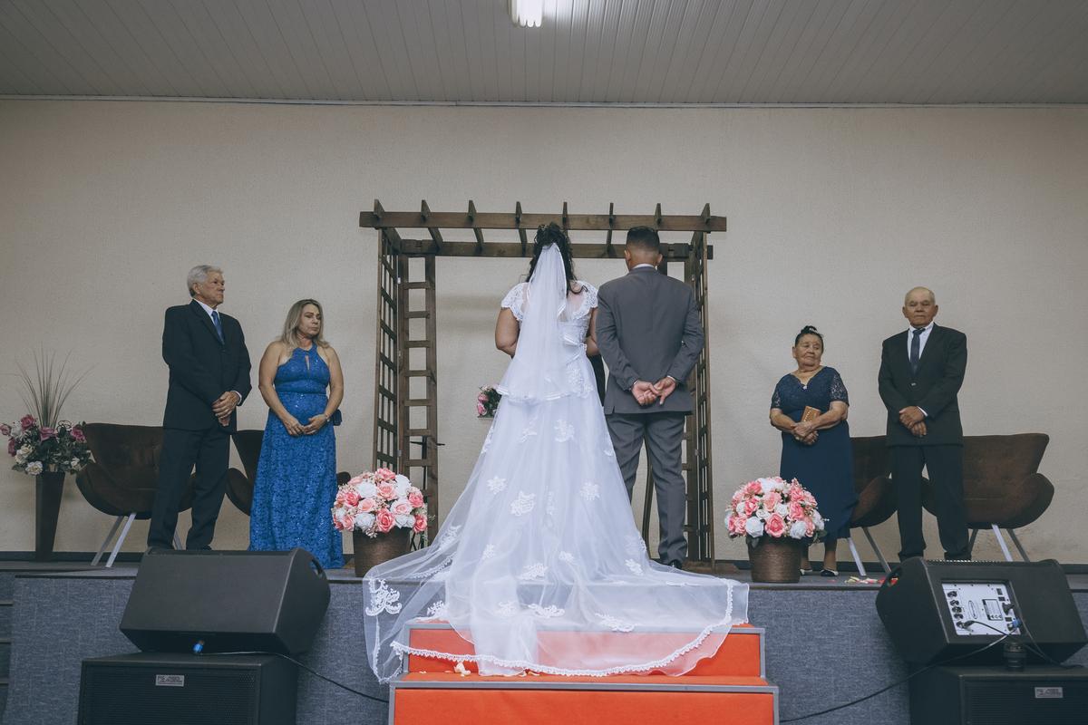 foto de casamento cauda do véu