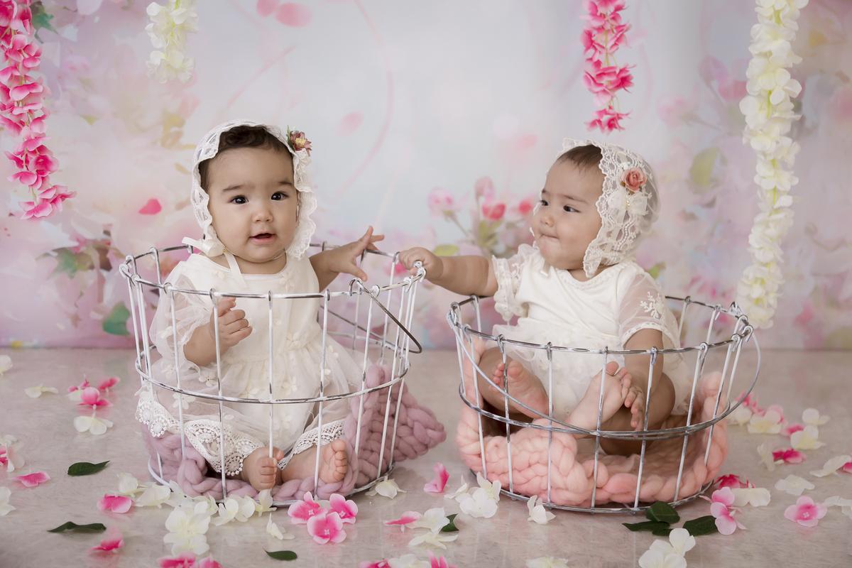 amor em dose dupla de gêmeas, ensaio banho de leite em Brasilia.
