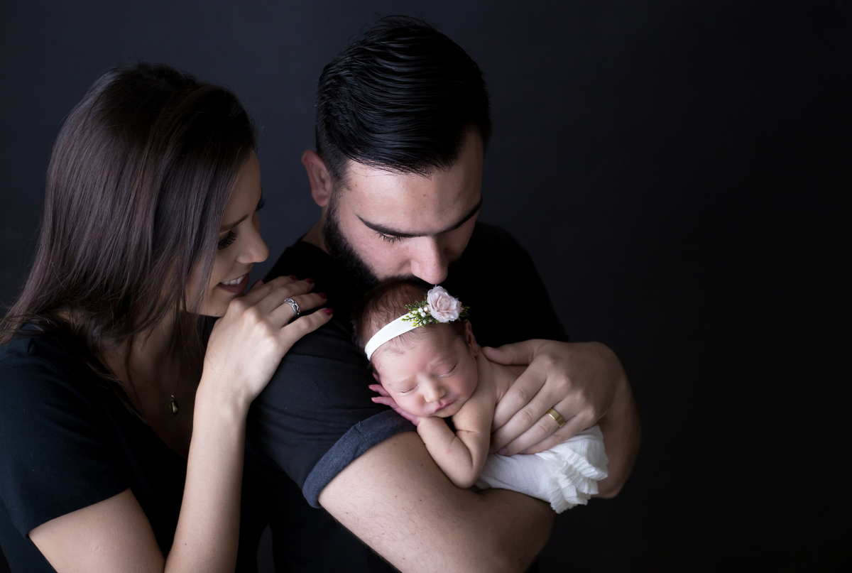 Familia em ensio newborn Brasilia