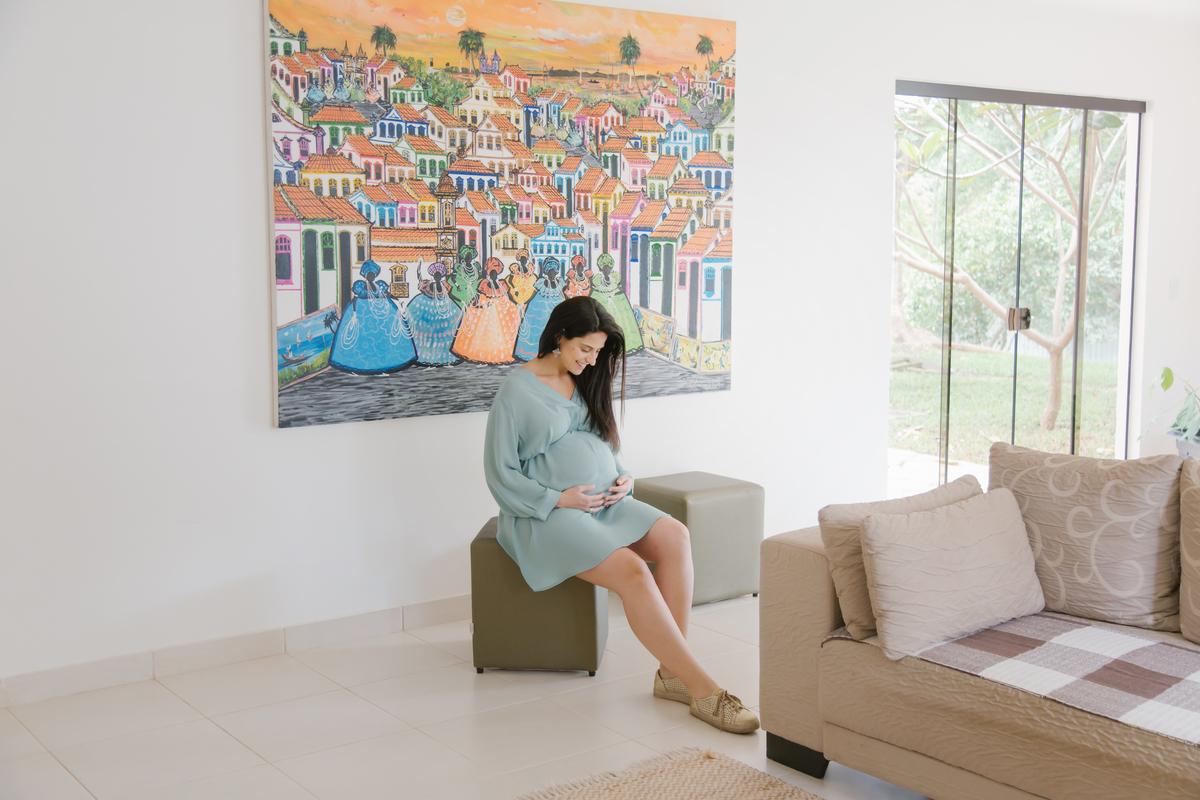Ensaio gestante lifestyle, amor em casa, Brasilia DF