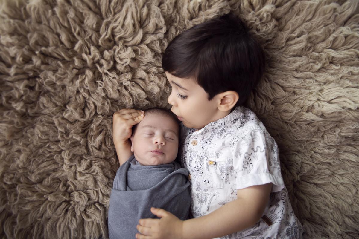 Ensaio de irmãos, recem nascido, 16 dias, Brasilia