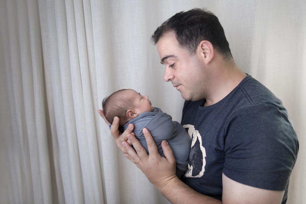 Papai e recem nascido, Newborn Brasilia