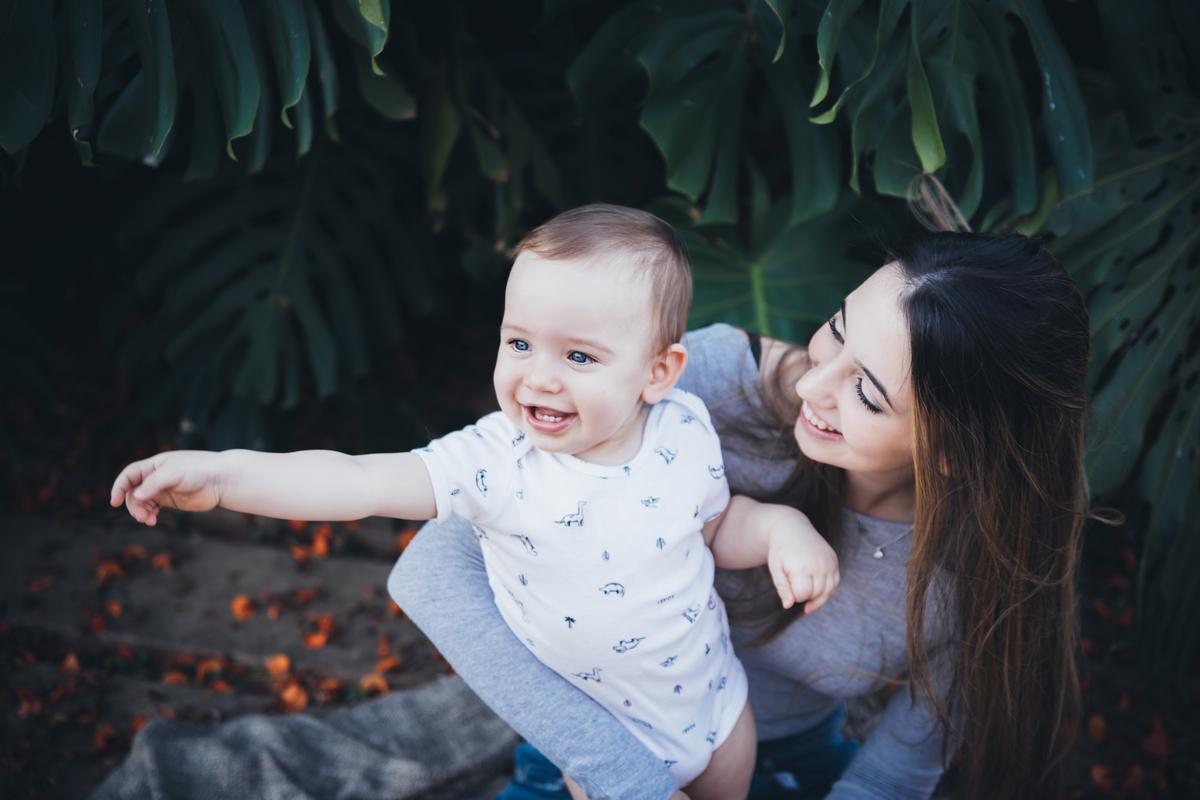 Bebê e mamãe , ensaio externo, peninsula dos Ministros