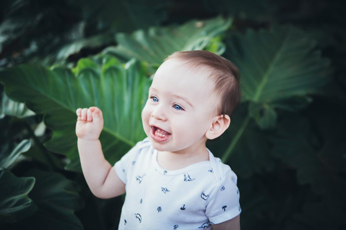 Bebe de 11 meses em acompanhamento primeiro ano, ensaio externo Peninsula dos Ministros