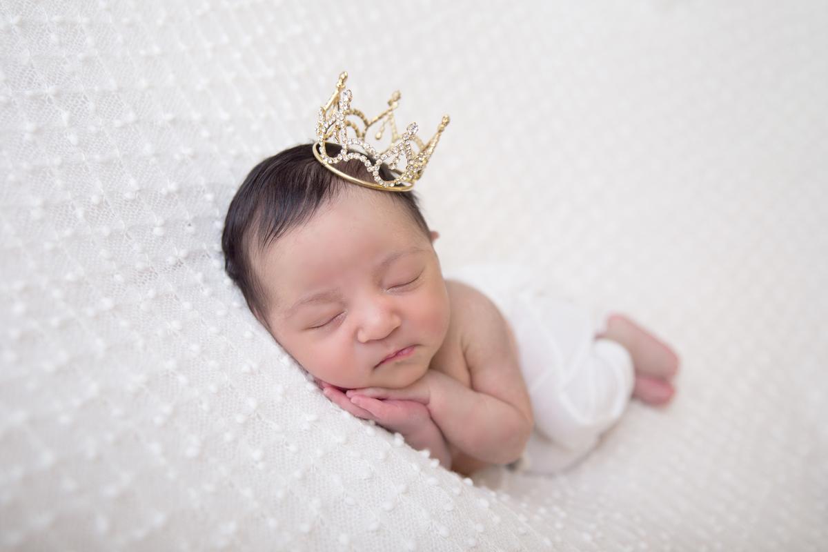 Princesinha Ensaio Newborn Menina, Ensaio recém nascido em Brasilia