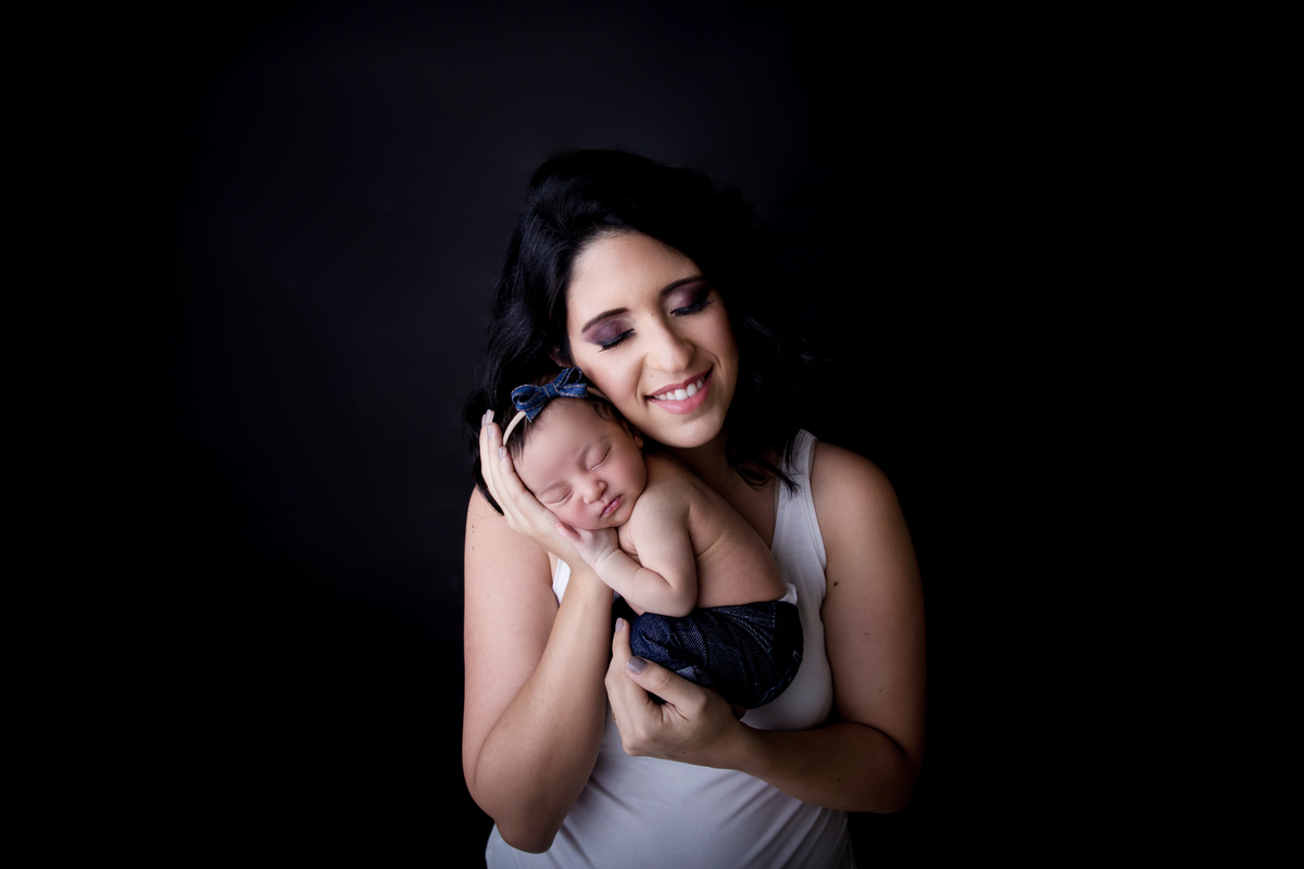 Mamãe e eu , ensaio newborn Brasilia da Heloisa