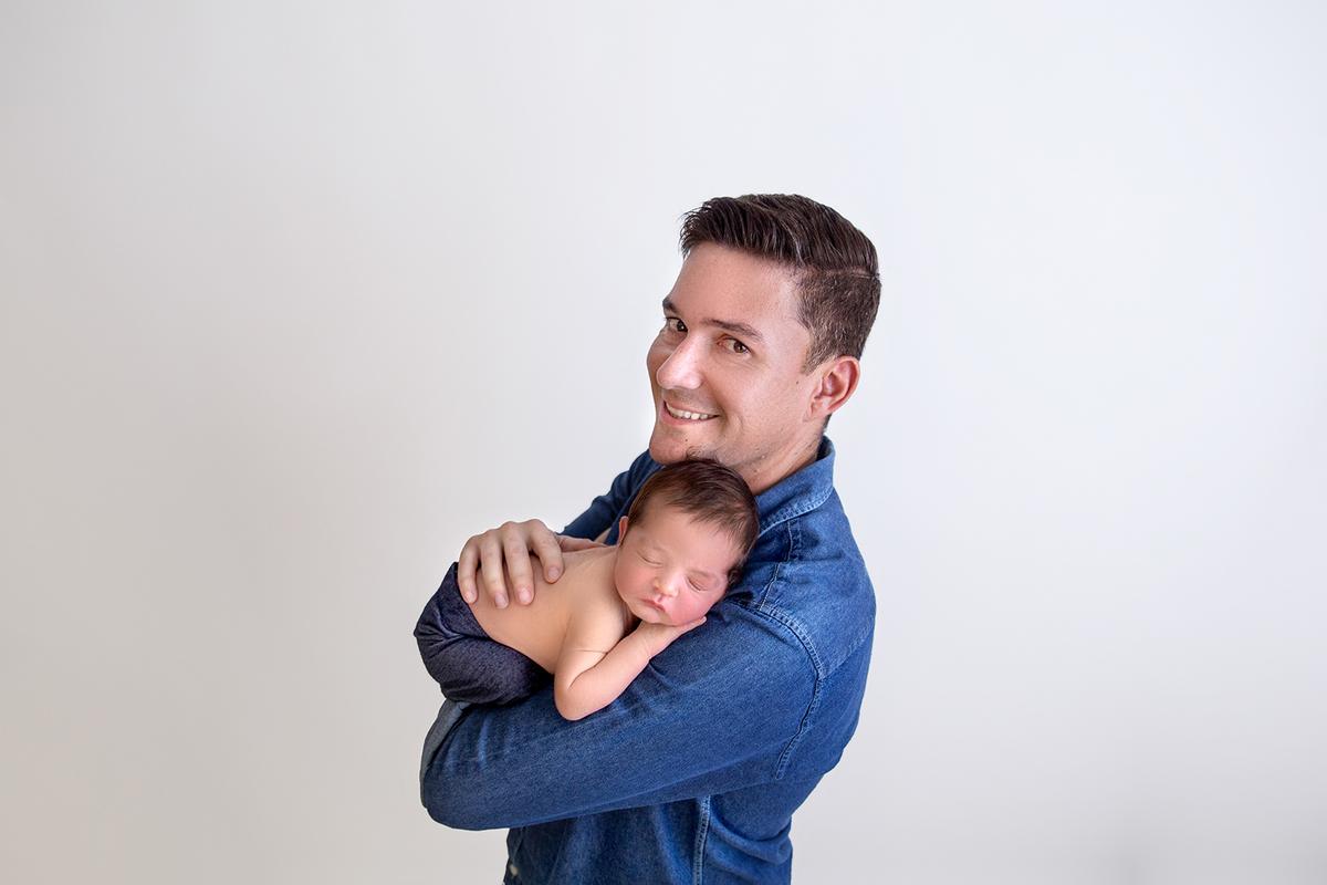 papai ensaio Newborn Brasília