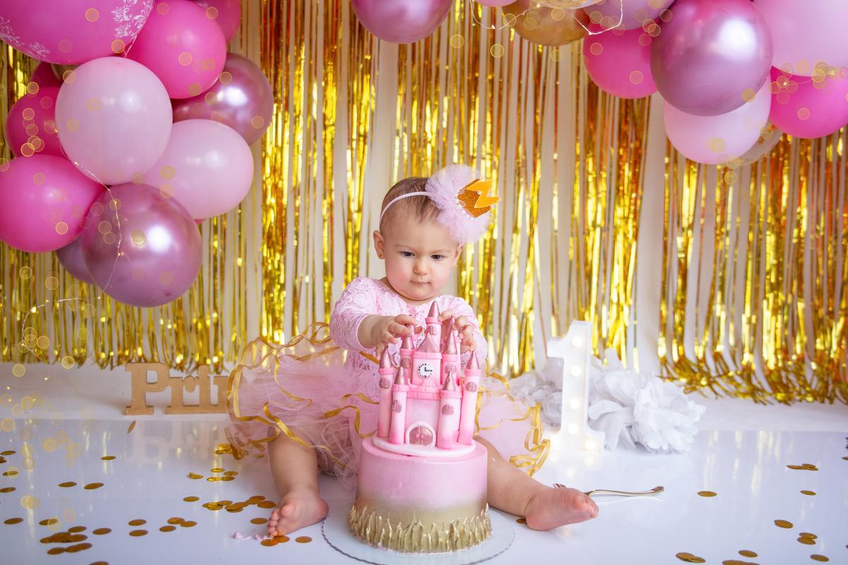 Cake Smash, ensaio com bolo Brasilia, Smash the Cake princesa