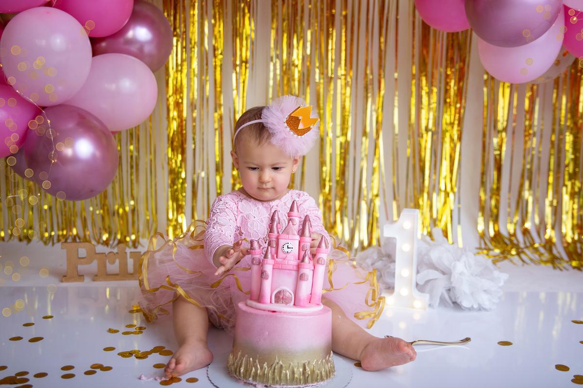 Princesa smash the cake rosa, Brasilia, Gabi Aine