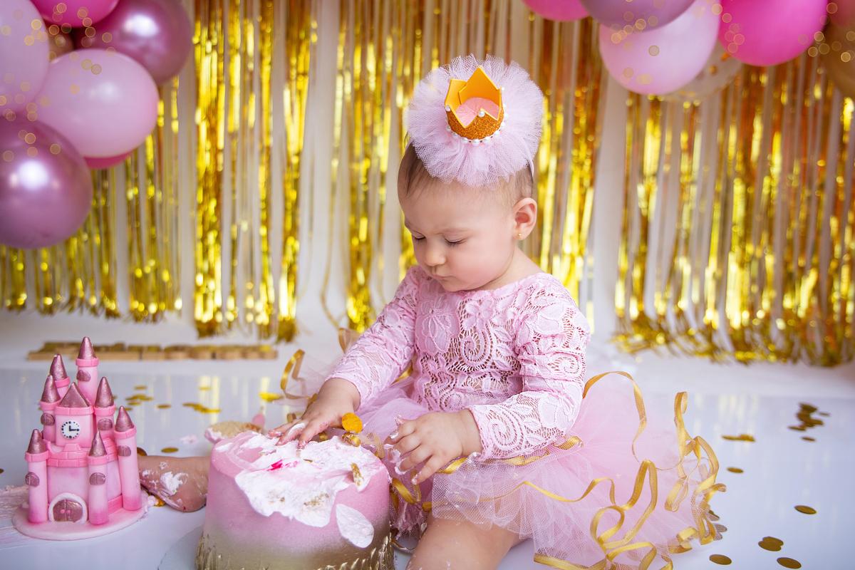 Ensaio com o bolo, Brasilia, Acompanhamento bebê primeiro ano