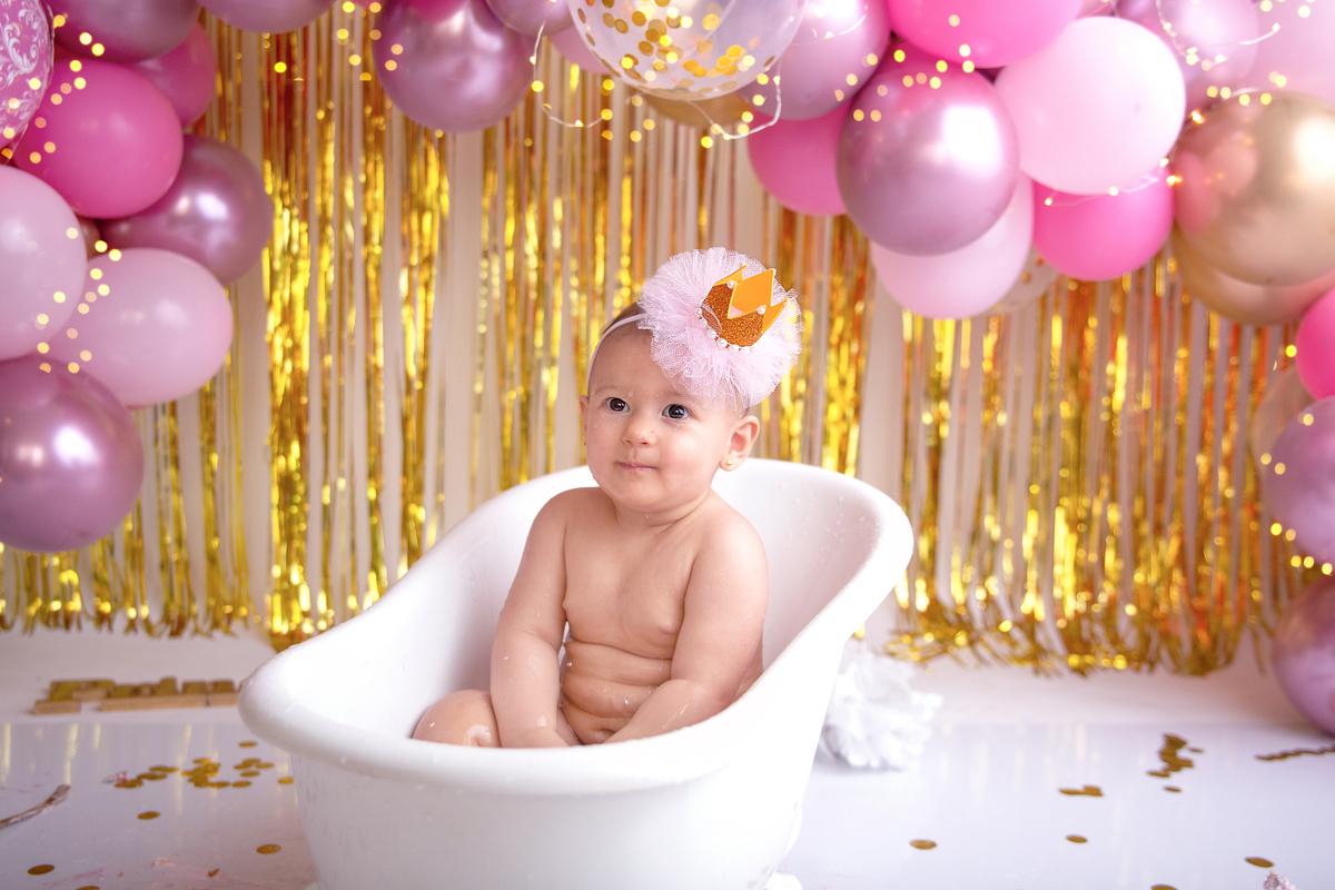 Smah the cake hora do banho tema princesa