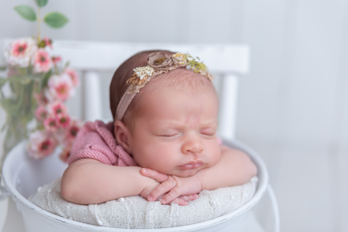 Newborn Brasilia Menina no baldinho