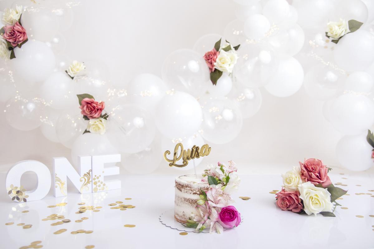 Cenáio minimalista e delicado Smash The Cake jardim