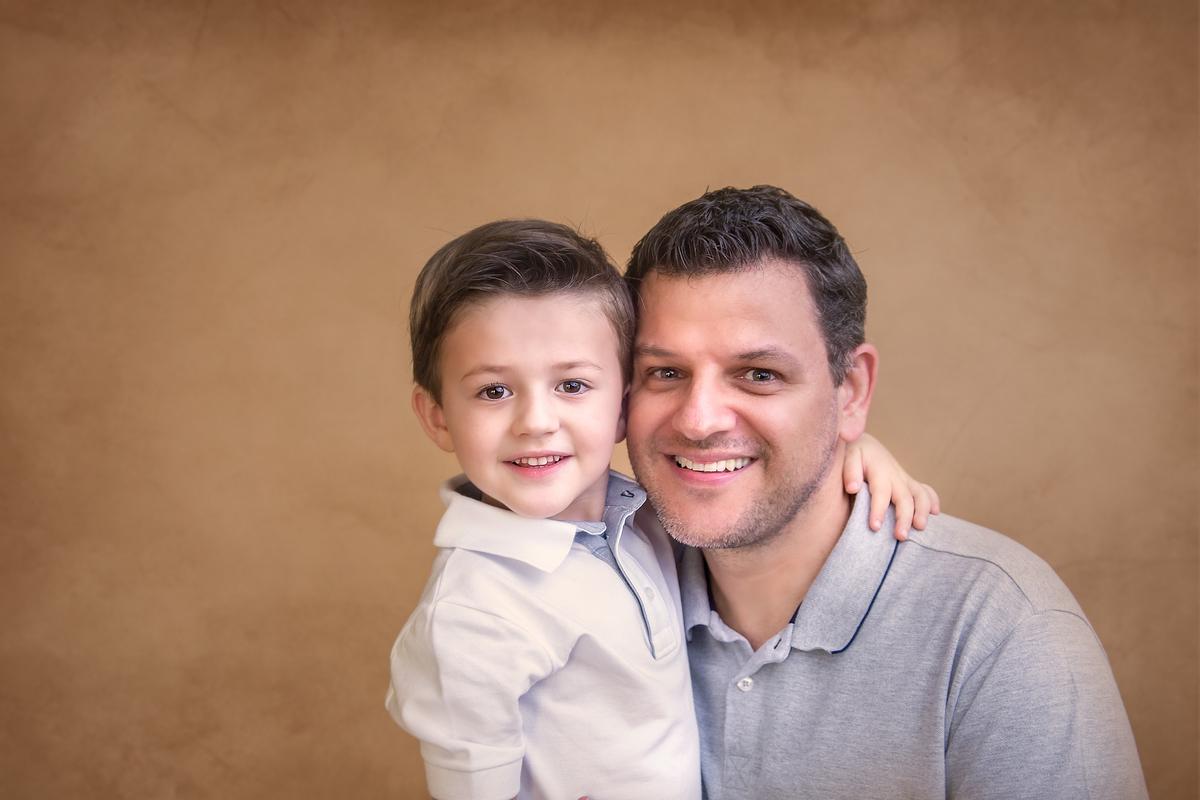 Papai e Filho ensaio Gabi Aine