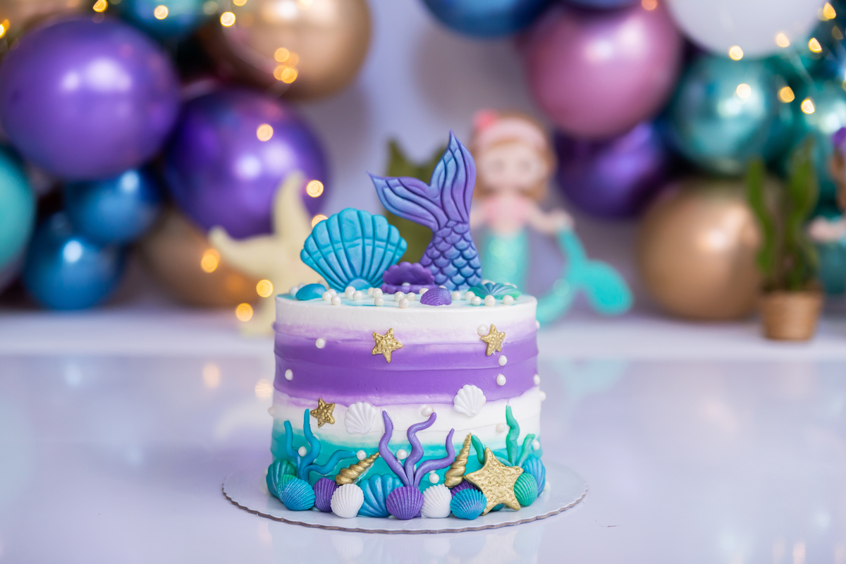 Smash The Cake tema Sereia Brasilia DF, Gabi Aine