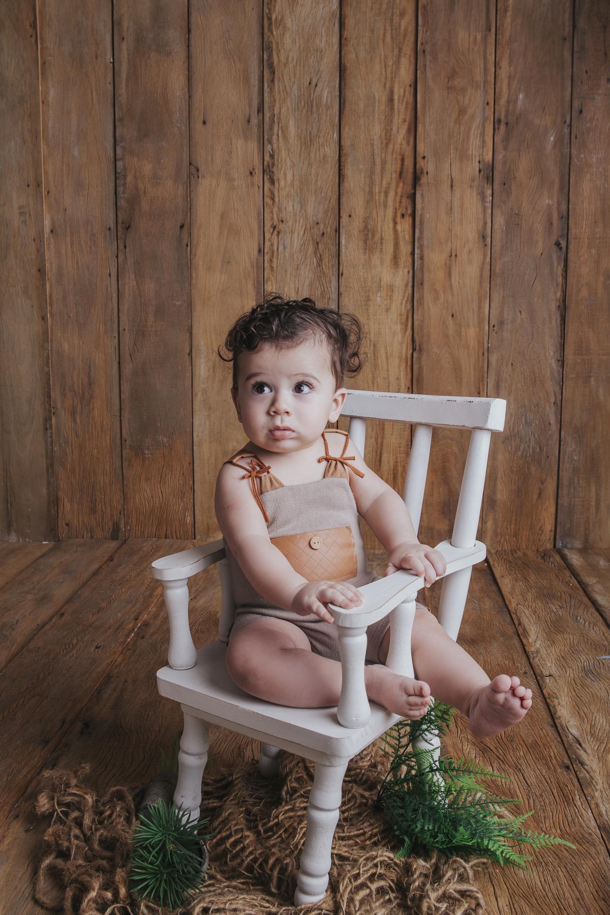 Ensaio de acompanhamento, bebê de 6 meses
