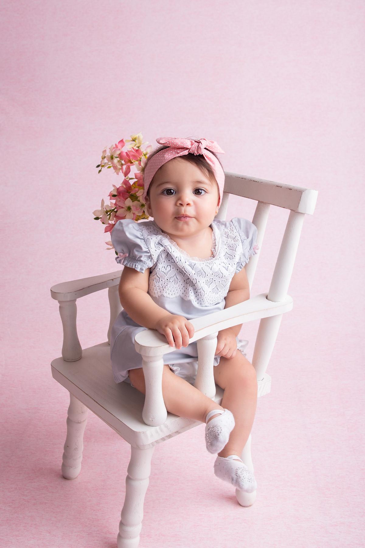 Bebe Menina, fundo rosa, primeiro ano do bebê, Brasilia