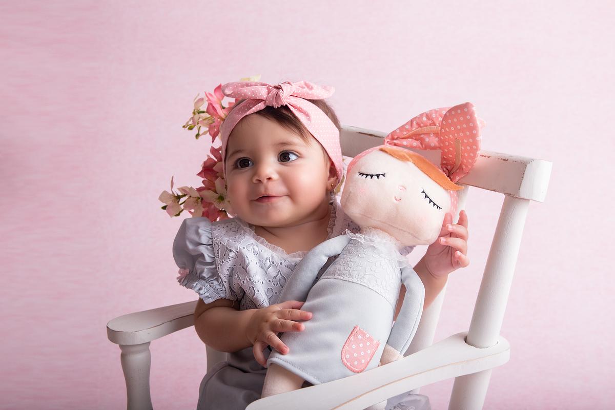 minha boneca, fundo rosa, primeiro ano Brasília DF