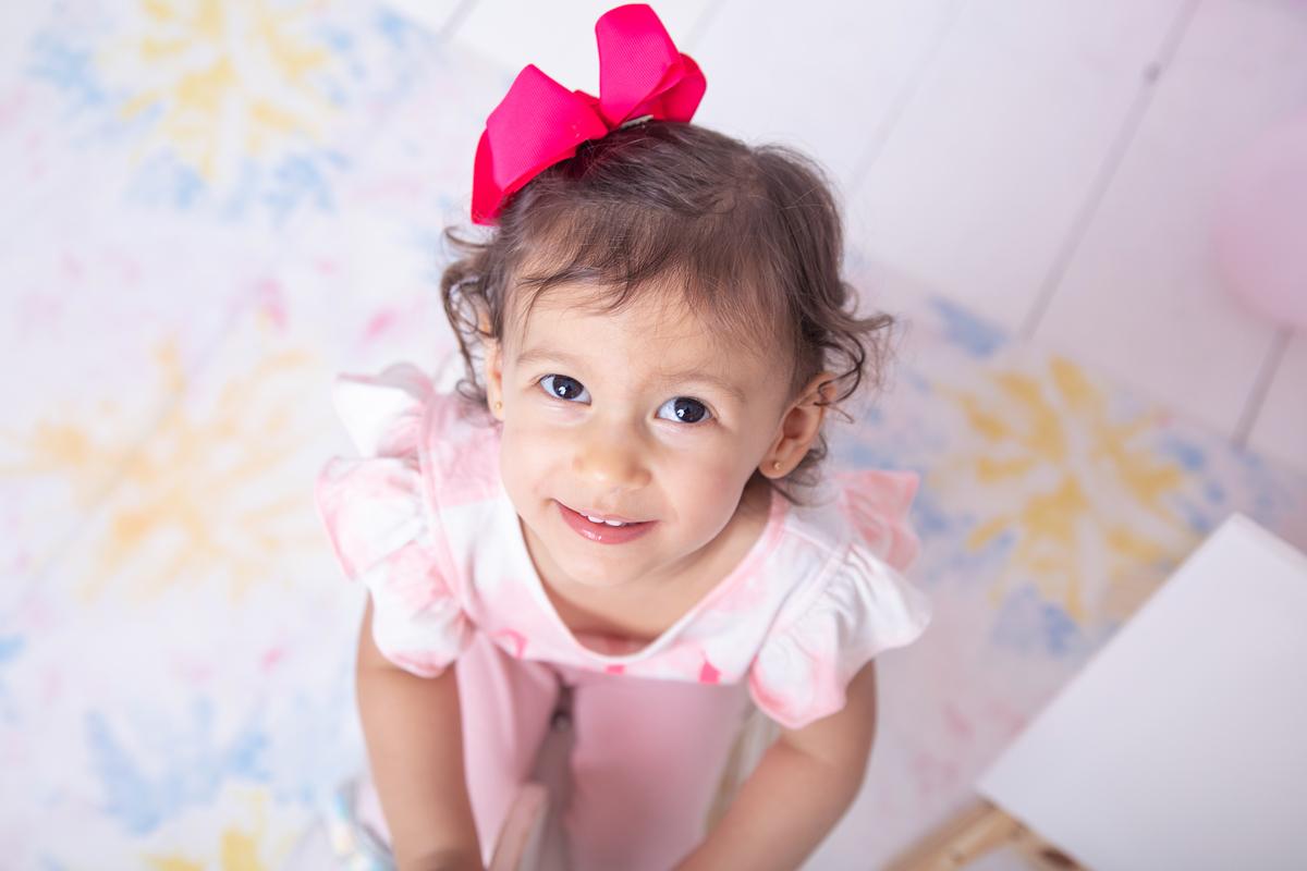 ensaio tema tie day, tieday, ensaio 2 anos menina, rosa, Gabi Aine