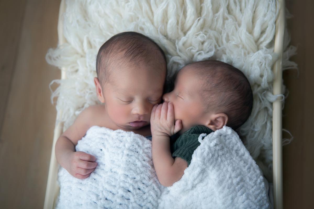Vou te contar uma histórinha na caminha gêmeo, Newborn