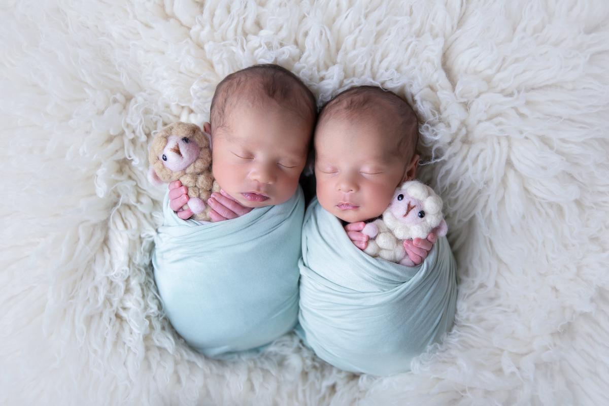 amor em dose dupla, Newborn, Ensaio fotográfico recém-nascido