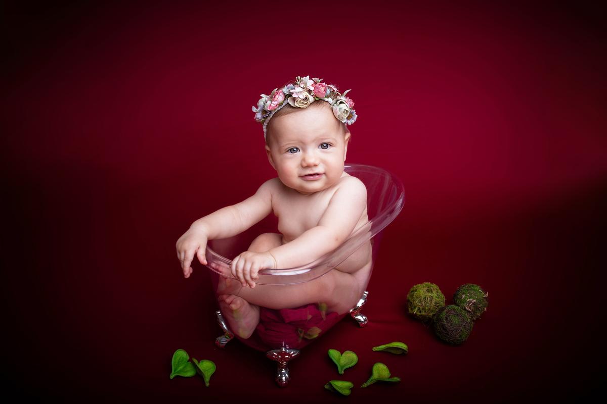 Olha que amor em ensaio bebê, seis meses, ensaio acompanhamento primeiro ano em Brasilia