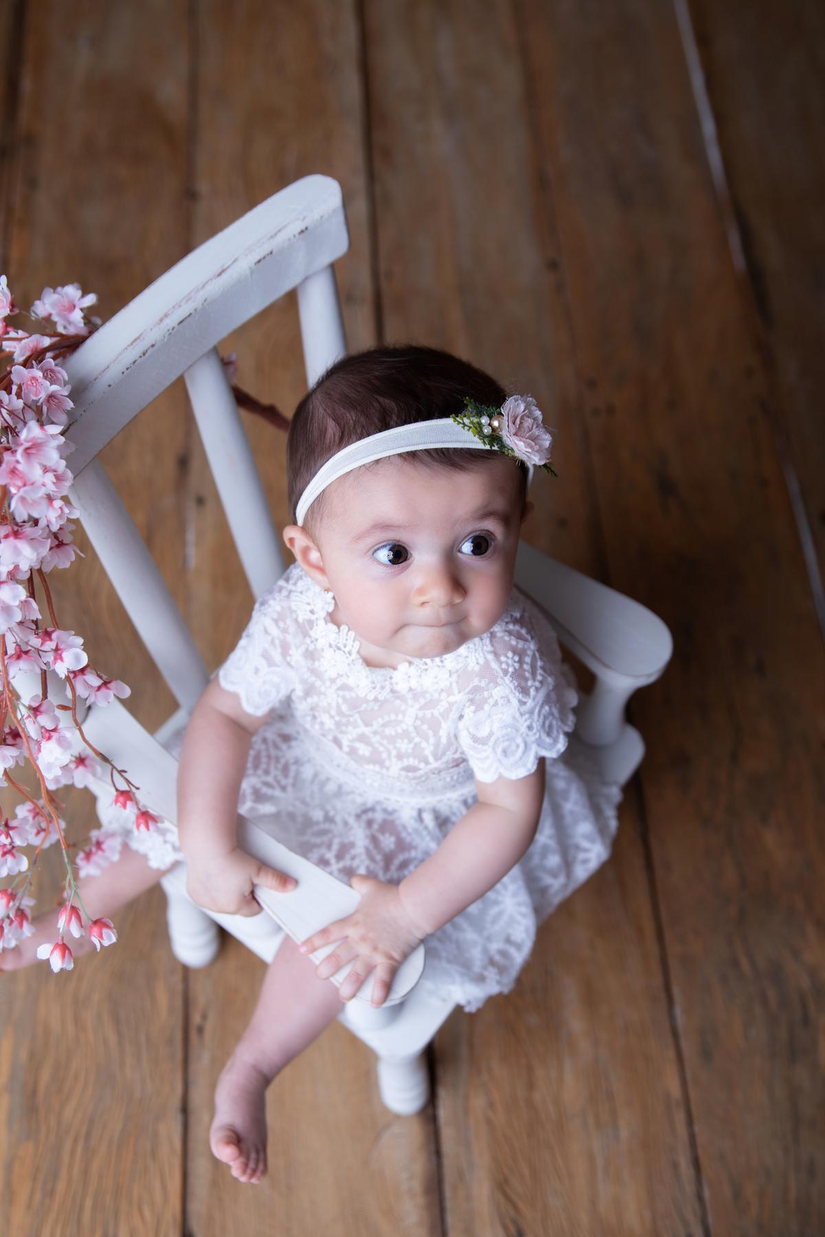 Foto de cima, bebe de seis meses, Gabi Aine, book bebê seis meses