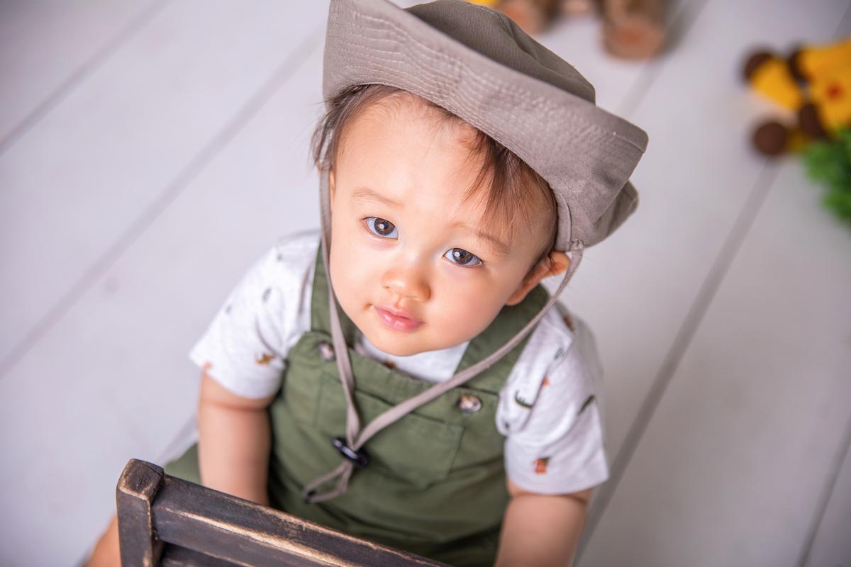 Ensaio primeiro ano do bebê, ensaio com bolo, smash the cake, safari