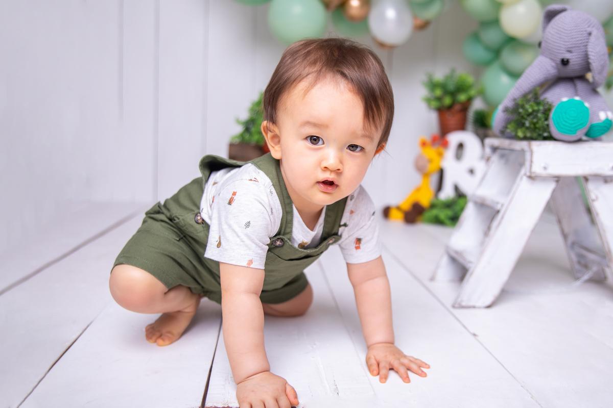 Bebê ensaio dafari, atemporal, clean