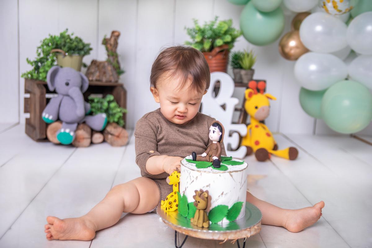Smash The cake, tema safari, atemporal, celebrar