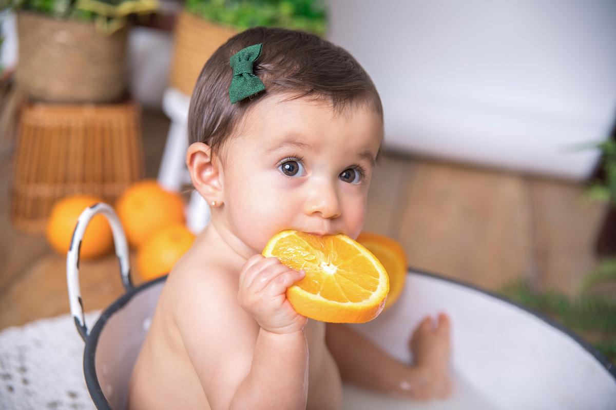 laranja doce, ensaio infantil, banho de leite