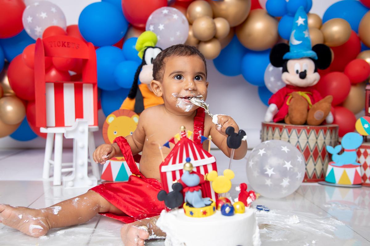 Smash the cake tema Circo do Mickey em Brasília