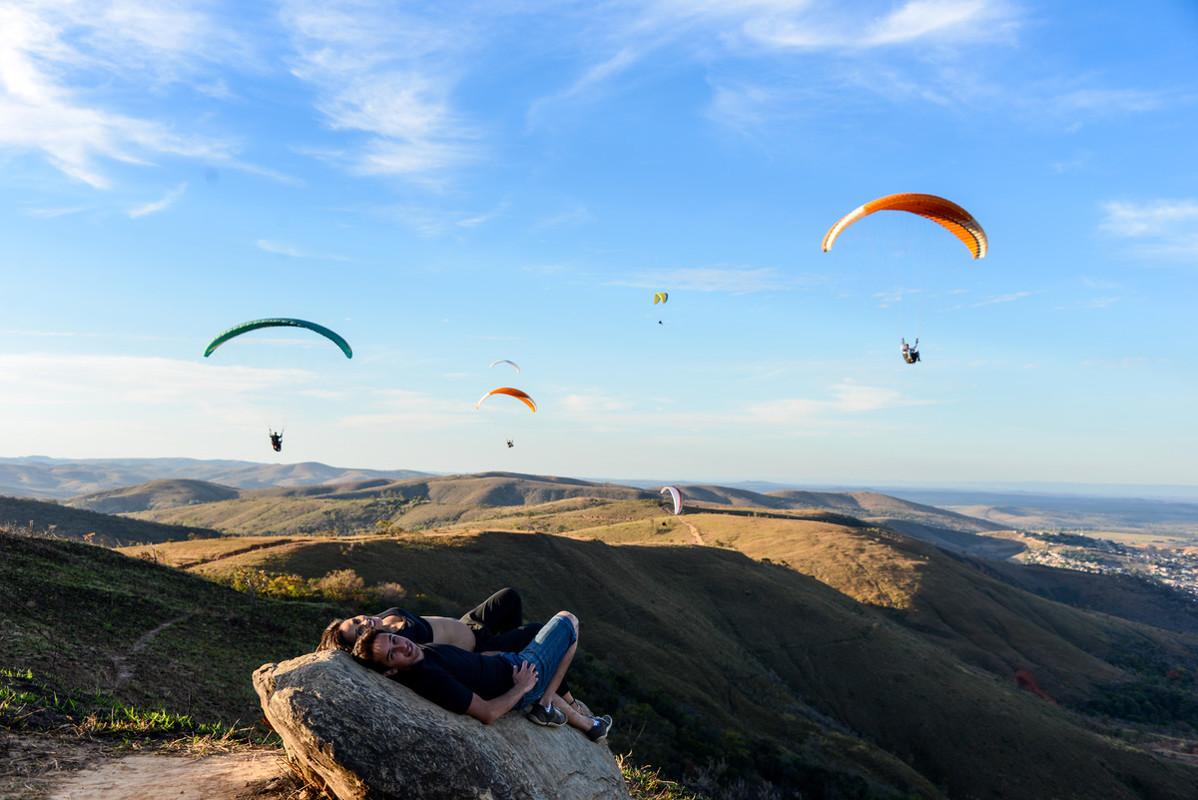 Área de voo de paraglider