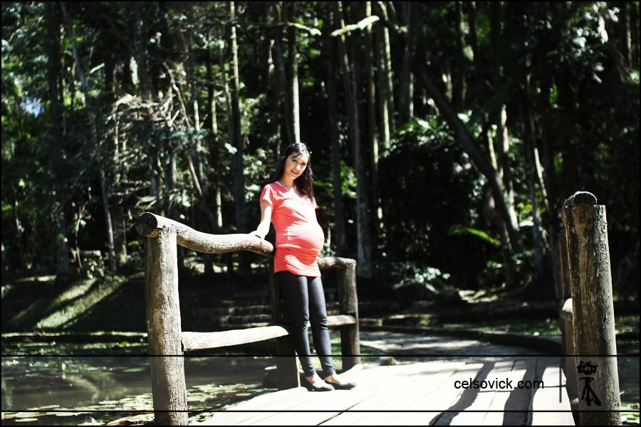 e-session gestante Taísa | local Jardim botânico