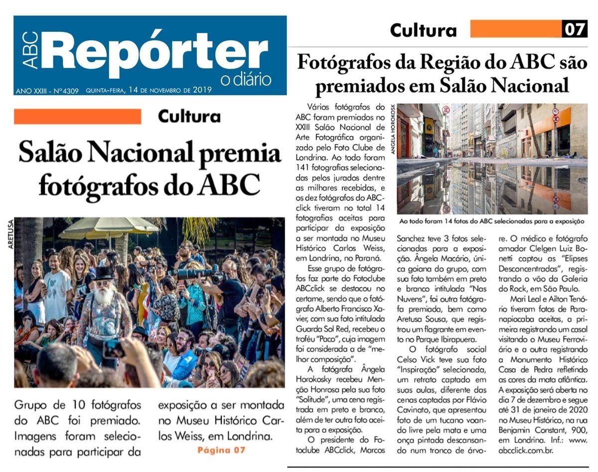 Imagem capa - Fotógrafos do ABC são Premiados em Salão Nacional de Fotografia por Celso Vick Fotografia e Filme