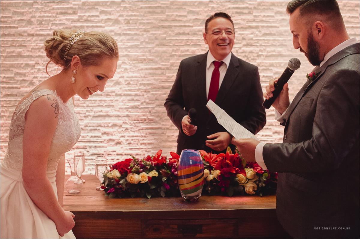 troca de votos dos noivos