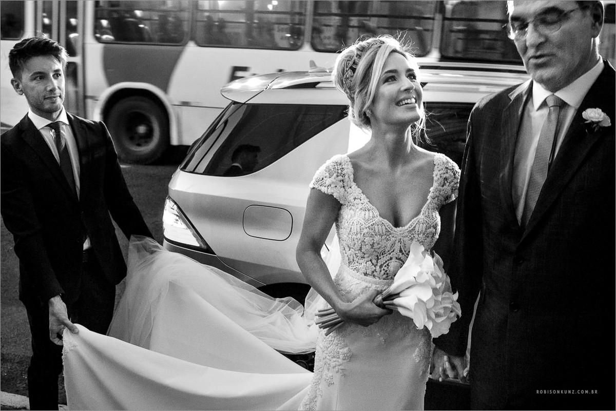 entrada da noiva com o pai