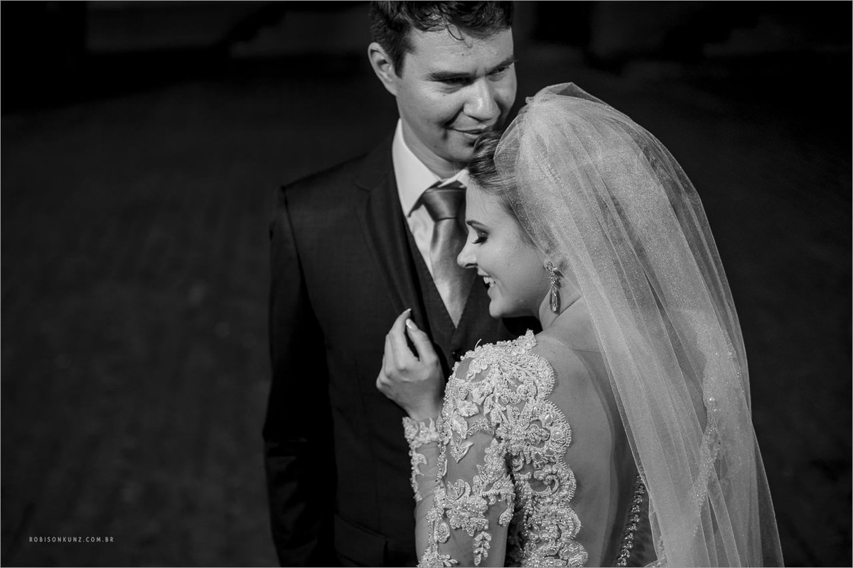foto dos noivos depois da cerimonia