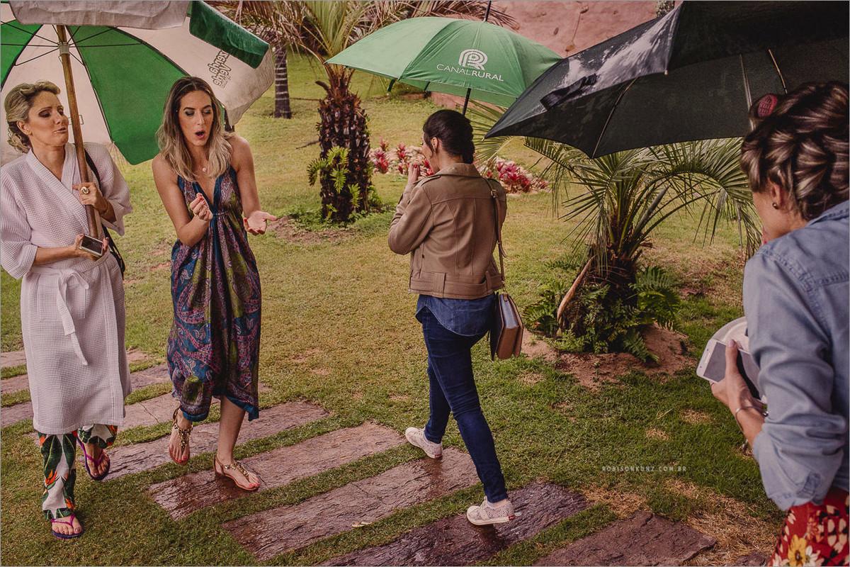 casamento com chuva fazenda verde