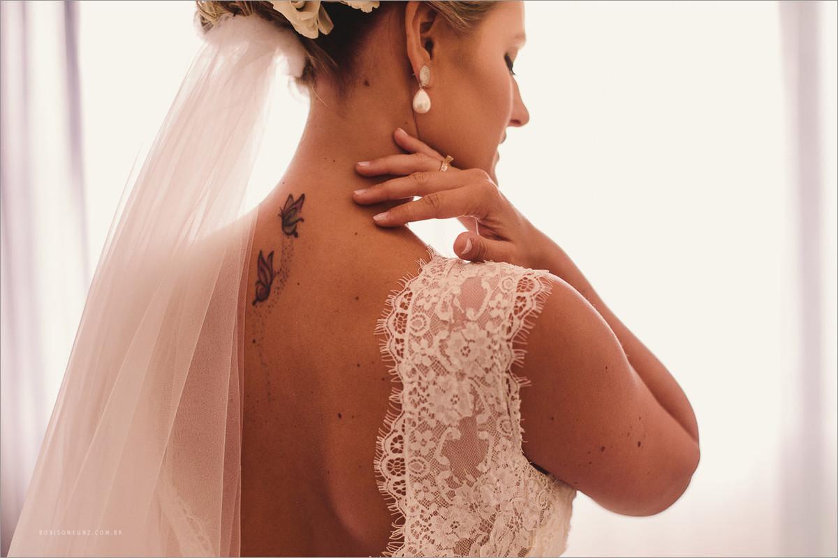 foto só da noiva antes do casamento