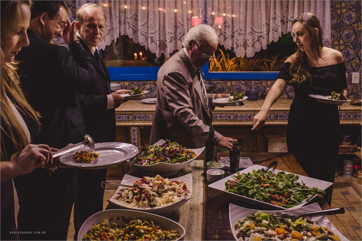 jantar no Villa Antonietta