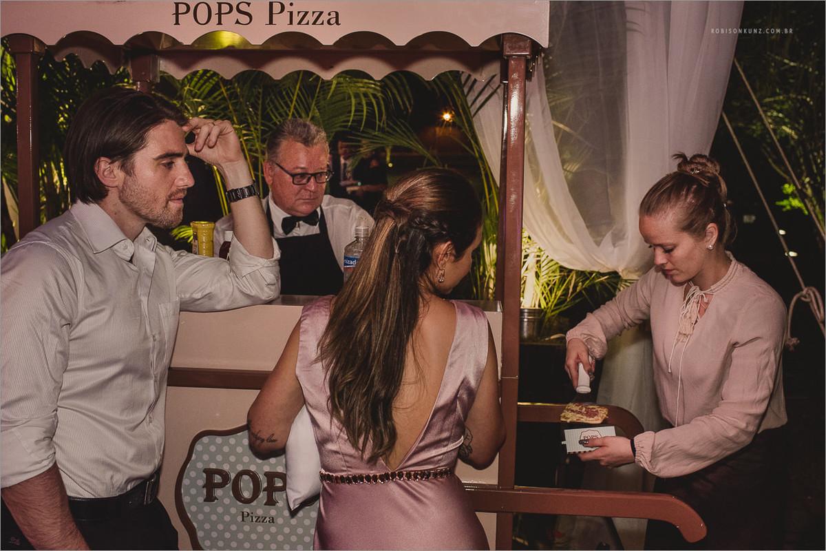 barraquinha de pizza no casamento