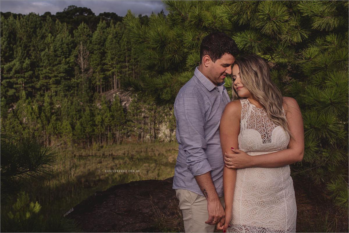 paisagem incrível para ensaio de noivos