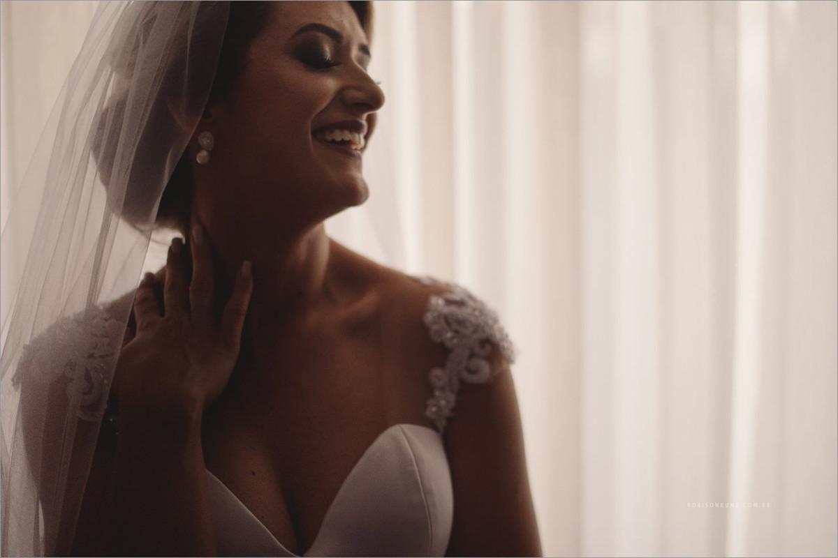 foto da noiva pronta antes do casamento