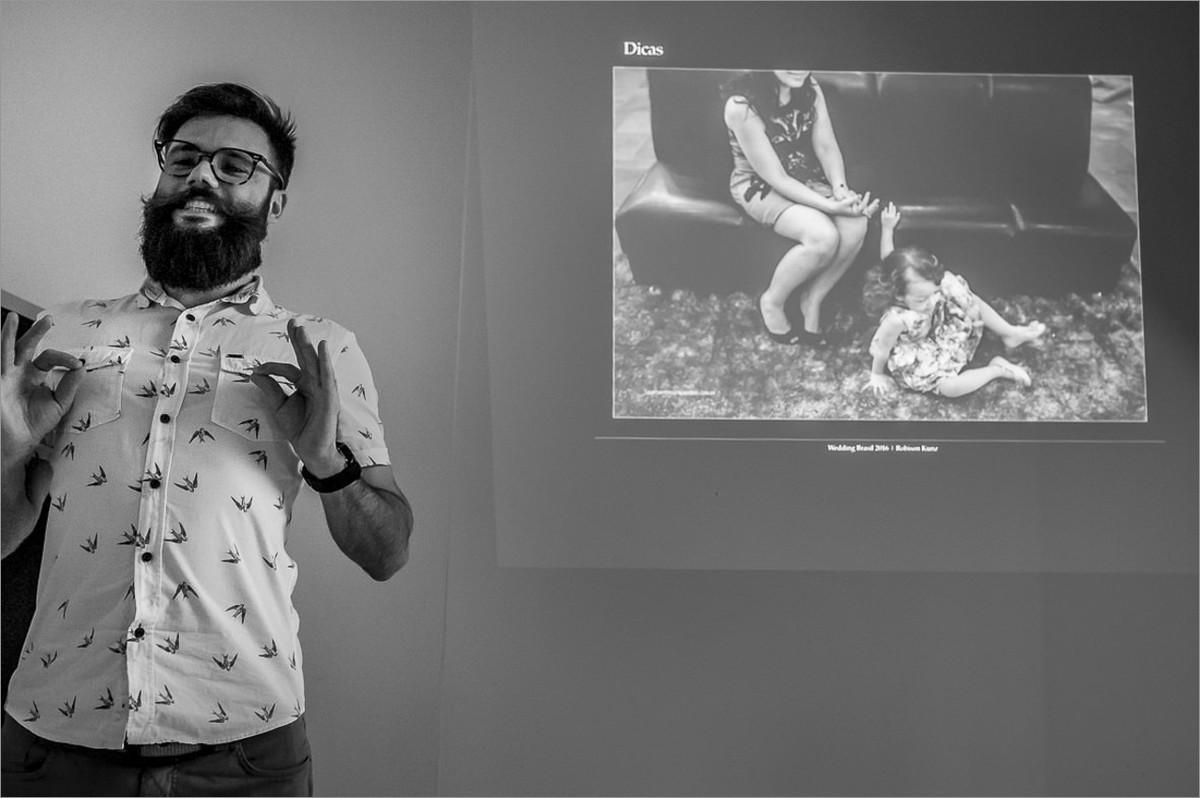 workshop perseguindo fotografias verdadeiras com nei bernardes e robison kunz - robison kunz palestrando