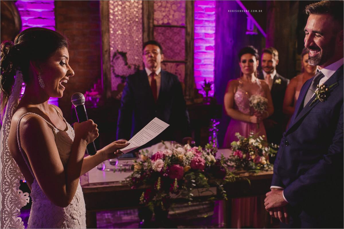 troca dos votos dos noivos