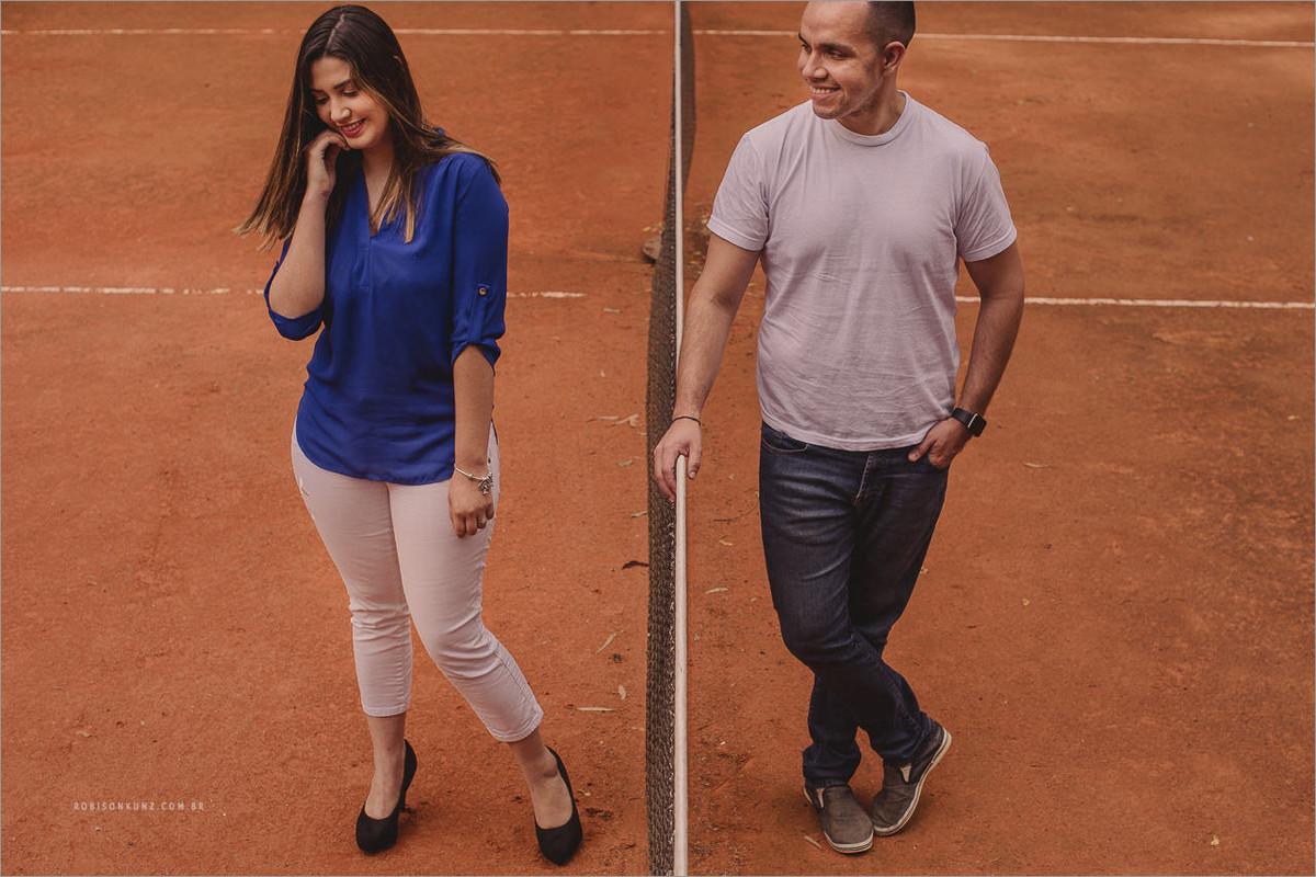ensaio pre-casamento na quadra de tenis