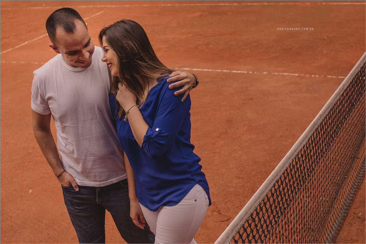 ensaio de casal quadra de tenis