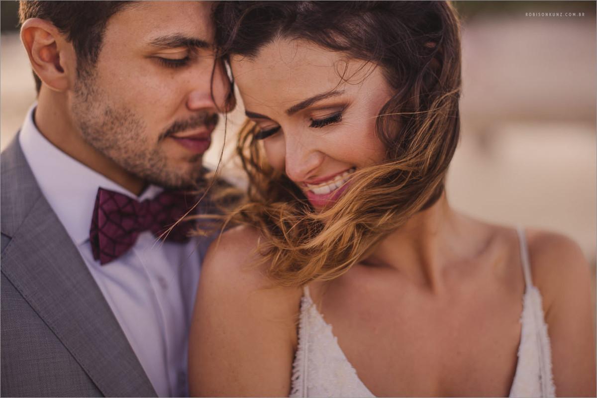 foto dos noivos após a cerimonia
