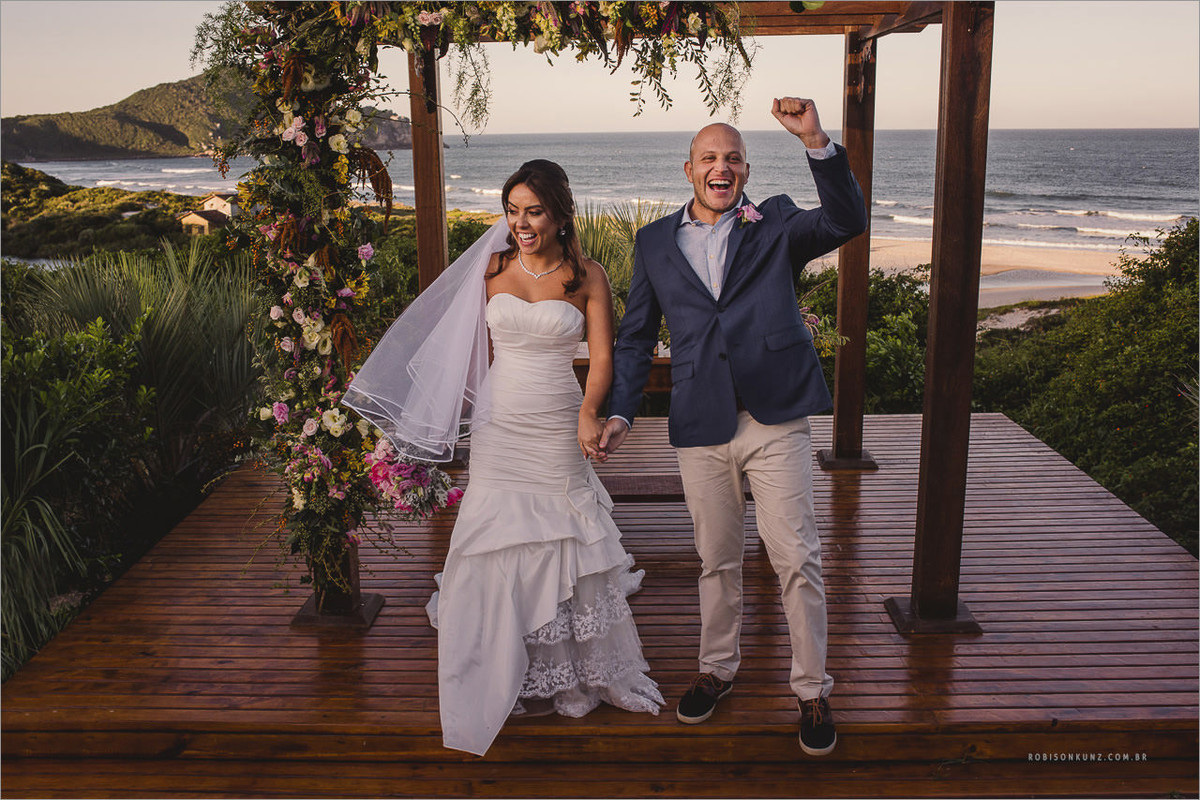 casamento beira mar